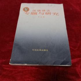 汉语语法专题研究