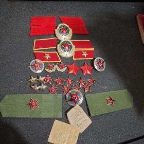 帽徽,肩章,领章(共36件)