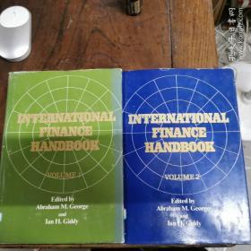 [英文原版]International Finance Handbook:Volume 1-2 Set. 国际金融手册:第1-2卷全(精装+护封,品佳)