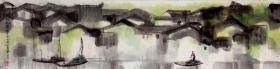 """李丰田136*34【作品保真,取自画家本人】 1939年10月出生于山西平定。长期从事新闻编辑、美术创作、美术教育等工作。曾任""""河北美术家""""主编、河北美协常务副主席兼秘书长、齐白石美术学院院长。现为中国美协会员、中国收藏家协会学术委员、国家一级美术师、河北省美术家协会艺委会副主任、英格兰皇家艺术基金会永久学术顾问等职。"""
