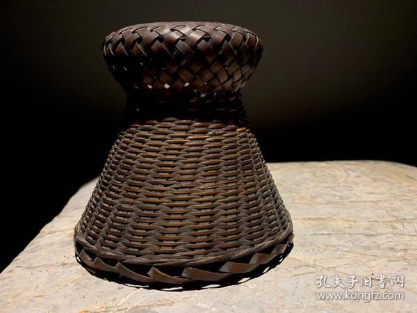 日本老花器,民國,手工竹編