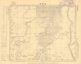 昭和九年(民国1934年)《滨州沾化老地图》,图名《富国镇》( 原图高清复制)民国滨州市沾化区老地图。四至请看图片。十万分之一比例尺,日军军用,参谋本部陆地测量总局测绘。沾化地理地名历史变迁史料。此图种稀少。裱框后,风貌佳。