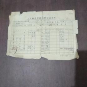 1952年工厂职员劳动保险登记卡片