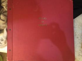 肯尼亚国家地图集 超大开本 精装 49cm*45cm 1959年 第一版