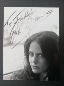 法國著名女星 伊娃·格林(Eva Green)親筆簽名照