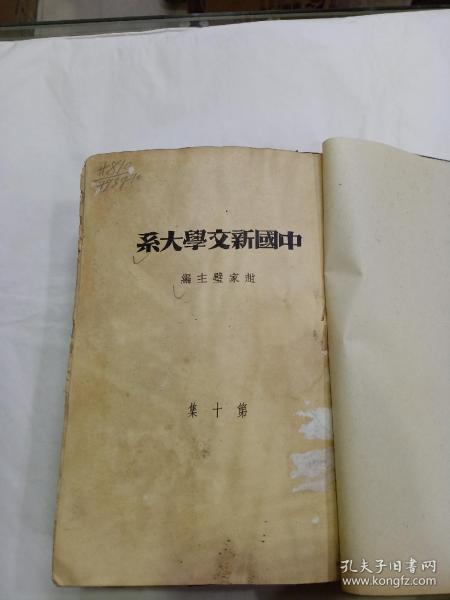 毛邊紙《中國新文學大系》1936年初版,有陳獨秀  蔡元培文章