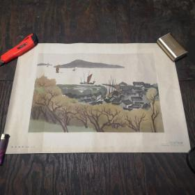 雨后渔村(水彩画)4开