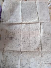 日军侵华罪证,1938年,日军侵占河南十所会的焦作地图,武陟县地图,修水县,沁阳县,清化镇,两图拼接上有日军红蓝铅笔标注