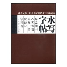 翰墨风雅历代名家名碑水写字帖--赵孟頫书《玄妙观重修三 清殿记》字精选 王毅 书法