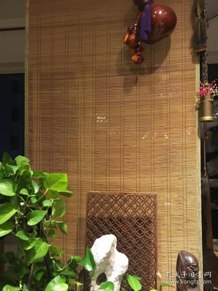 民國老竹簾,茶室專用竹簾