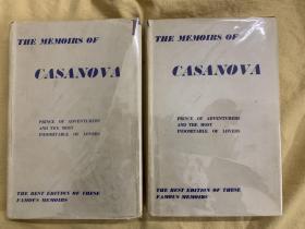 卡萨诺瓦回忆录 两卷套  The Memoirs of Jacques Casanova De Seingalt :Prince of Adventurers and the most indomitable of Lovers
