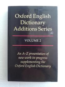 牛津英语大词典增补系列 Oxford English Dictionary Additions Series 卷二 Volume 2