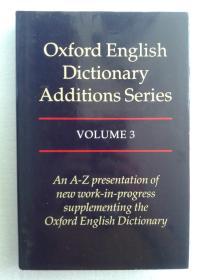 牛津英语大词典增补系列 Oxford English Dictionary Additions Series 卷三 Volume 3