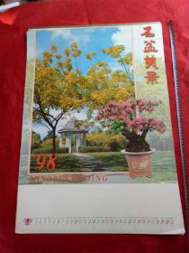 怀旧收藏挂历《1998名盆美景》12月全青岛出版社尺寸75*52cm