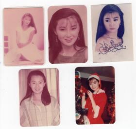华人女神 张曼玉 80年代早期老照片5张