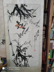 闽南画竹第一人刘卫民作品136.70cm