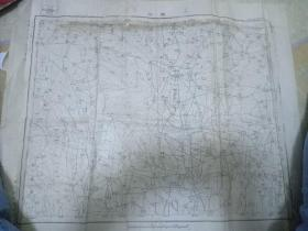 日军侵华罪证1938年日军侵占河南洛阳期间印制的陈凹地图,洛阳县,孟津县