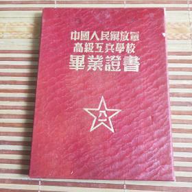 中国人民解放军高级工兵学校毕业证书