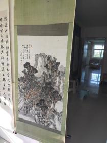 约民国时期  山水画立轴  作者不识  原装旧裱 画心尺寸98x56