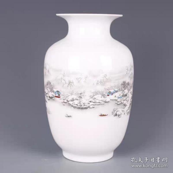 雪景冬瓜瓶
