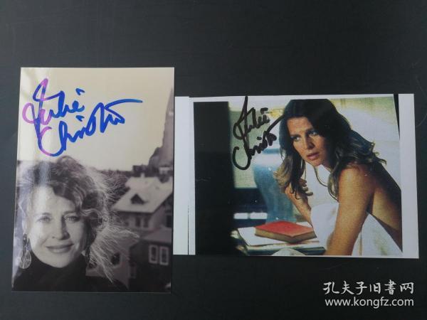 奧斯卡影后 朱莉·克里斯蒂(Julie Christie) 親筆簽名照兩張