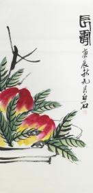 ★※【顺丰包邮】【纯手绘】【齐白石】中国绘画大师、前中美协主席、手绘三尺花鸟画(100*50cm)3买家自鉴.