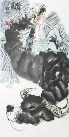 ★※【顺丰包邮】【纯手绘】【姚有多】中美协会员、手绘四尺整张人物画(138*69CM)2买家自鉴