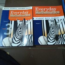 Everyday  Mathematics  Student Math Journal  Volume 2  +Math Journal Answer Book  Volume 2  两本合售  书名以图片为主。