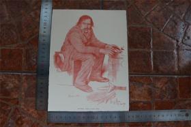 【現貨 包郵】1890年小幅木刻版畫《在冬天》(im winter1891)尺寸如圖所示(貨號400702)