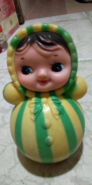 懷舊老玩具 不倒翁娃娃 琴不倒響鈴娃娃