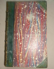 1860年- Sir Walter Scott – The Fortunes of Nigel 司各特名著《奈吉尔的命运》3/4真皮古董书 珍贵的早期版本 钢板画扉页插图 增补插图