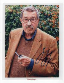 诺贝尔文学奖得主 德国著名作家 君特·格拉斯 Günter Grass 亲笔签名照 大尺幅照片