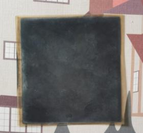 民国影像(底片、胶片):老城一景(牌坊)。牌坊旁有一招牌《出售徐州风景片》。注意影像售中售后不退不换。