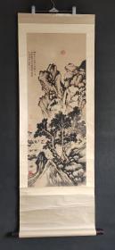 D1280:回流手绘文征明山水图立轴(日本回流.回流老画.老字画