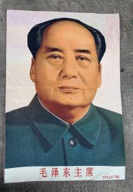 毛主席文革刺绣织锦丝织画红色收藏