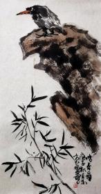 【保真】安徽省美术家协会员、《中华国风文艺》执行主编、实力画家方玉毛精品花鸟:鸣春图