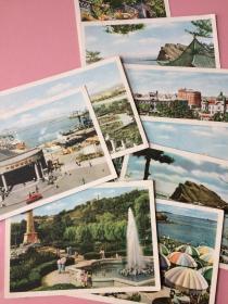 少见,早期,明信片,旅大风光(现大连),9张