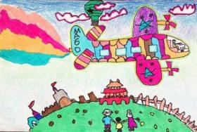 爸爸妈妈和ta的新舟飞机少儿绘画作品集