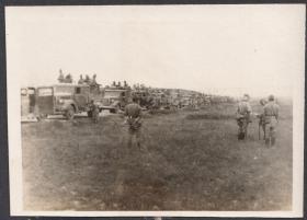 民国老照片,侵华日军汽车队老照片