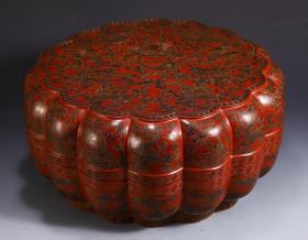 【名称】:漆器龙纹盖盒 【类别】:摆件 【规格】:高17.5 直径37cm 重2190g 【详细介绍】:此盖盒器型端正,呈花形,盖面微微膨起。盖与盒铆合严密。木制,以黑红色为主,黑红互置的色彩产生光亮、优美的特殊效果,绘龙纹图,在红与黑交织的画面上,形成富有音乐感的瑰丽的艺术风格,纹饰刻画细腻生动。图案清晰,工艺精美。风格独特,纹路规范,值得收藏的宝贝。