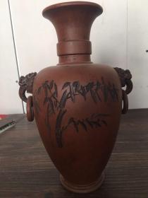 民国紫砂花瓶