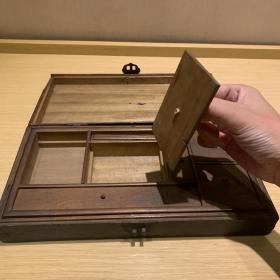 清代楠木文房四宝文具盒,尺寸31.5~16.5~6。