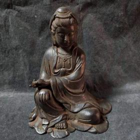 铁观音 佛像菩萨 仿古铁器  佛教用品 佑人平安 做工精致 品相佳