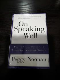 On Speaking Well,英语演讲指南英文版,封面有勒痕,无笔记无划线,包邮