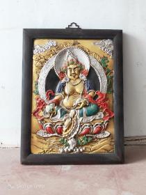 唐卡地藏王菩萨一组,包浆厚重。皮壳老辣,磨损自然