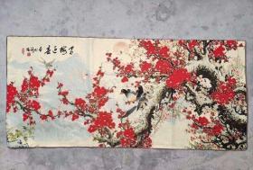红梅迎喜刺绣织锦绣