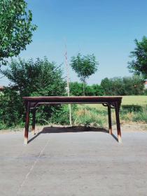 180-80-86全品老榆木明式一腿三牙畫案~茶桌做工精細考究~簡潔大氣穩重上檔次~紋理清晰漂亮~年代感十足lh運費自理