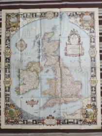 National Geographic国家地理杂志地图系列之1937年6月 A Modern Pilgrims Map of British Isles 英国地图