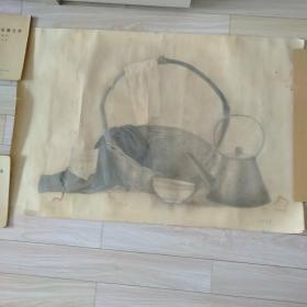 靜物素描(作者;陳學梅)106cm x 70cm