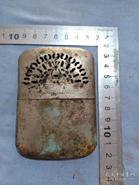 (箱15)民國 滿洲國 專利 酒精手爐,暖手爐,9.5*7cm